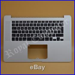 Macbook Pro Retina A1398 15 Late 2013 2014 UK Top Case Palmrest & Keyboard