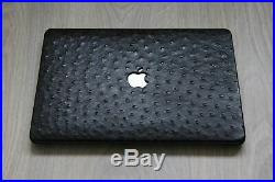 Macbook Pro Touch 13 inch Luxury Hardshell Cover Case Genuine Ostrich Leather
