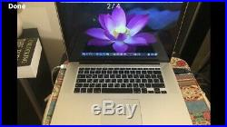 Macbook pro 15 2013 Excellent Condition Fully Functional A1398 with bonus case
