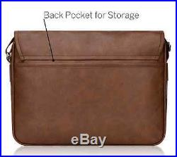 Messenger Bag Brown 13 In MacBook Pro Duzign Rover Leather Laptop Case Strap NEW
