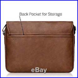 Messenger Bag Brown 15 In MacBook Pro Duzign Rover Leather Laptop Case Strap NEW