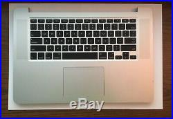 Mid 2014 TOP CASE (50 Battery Cycles) 15 MacBook Pro, A1398 (Grade A) topcase