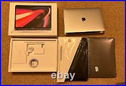 Mint Macbook Pro 13 M1 8GB 512GB Silver Warranty 13 Bat Cycle Case Shell Bundle
