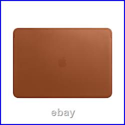 NEW! Apple Carrying Case Sleeve for 38.1 Cm 15 Macbook Pro Saddle Brown Leather