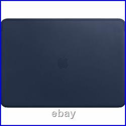NEW Genuine Apple MacBook Pro 15 Midnight Blue Leather Sleeve Case MRQU2ZM/A UK