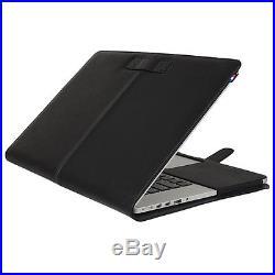 New Decoded MacBook Pro 13 Retina Leather Slim Cover Case Black