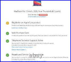 New Macbook Pro 13 2.0ghz i5 16GB 512GB Silver 2020 TouchBar 4TB + Case Bundle