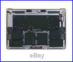 OEM MacBook Pro A1707 15 2016 2017 Top Case WithBattery Trackpad Touch bar Silver