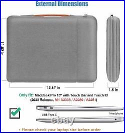 ProCase for 2020 MacBook Pro 13 M1 Hard Shell Case + Grey Sleeve Bag