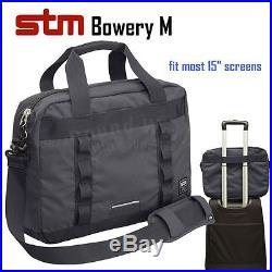 STM 112-089P Bowery M 15 Laptop Messenger Bag Shoulder Case for MacBook Pro