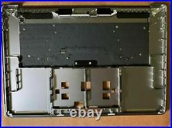 Space Gray Macbook A1706 Top Case Palmrest keyboard Touchbar MacBook Pro 13