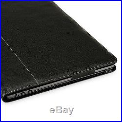 TETDED Premium Leather Case for Apple MacBook Pro 15 Touch Bar 2018 LC Black