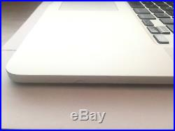 TOP CASE (295 Cycles) Late 2013 15 MacBook Pro A1398, Trackpad/Keyboard/Battery