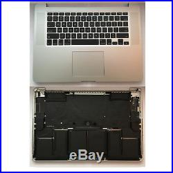 TOP CASE (New Battery) Mid 2012 15 MacBook Pro (A1398) Trackpad/Keyboard (A+)