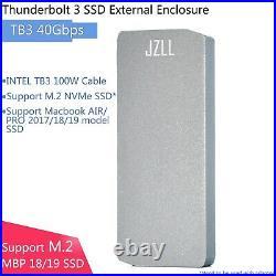 Thunderbolt 3 40G/S Macbook Air Pro 2017/18/19 NVME SSD External Enclosure Case