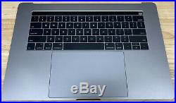 Top Case Keyboard, Trackpad Battery MacBook Pro 15 2016/2017 A1707 Space Gray