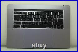 Top case Palm Rest Keyboard Trackpad Space Gray MacBook Pro 15 A1990 2018 2019