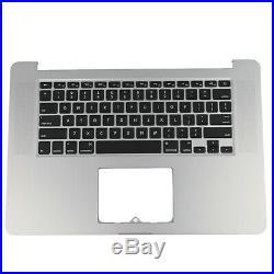 US New For Macbook Pro Retina 15 A1398 2013 Top Case Palmrest Keyboard Backlit