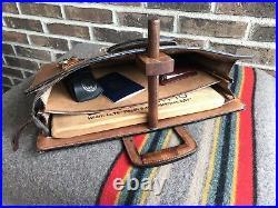VINTAGE 1980s NATURAL BELTING SADDLE LEATHER MACBOOK PRO 15 BRIEFCASE CASE R$898